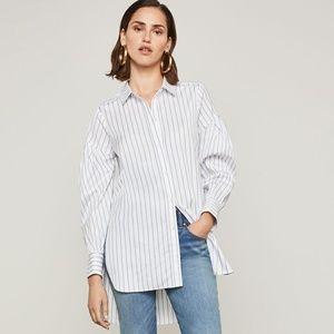 BCBGMAXAZRIA Puff Sleeve High Low Dress Shirt